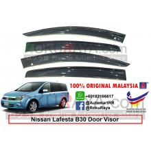 Nissan Lafesta B30 (1st Gen) 2004-2012 AG Door Visor Air Press Wind Deflector (Big 12cm Width)